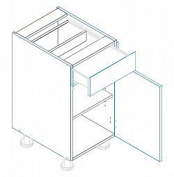 Skříňka dolní se zásuvkou ALINA D40 S/1 pravá