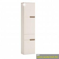 Skříňka levé provedení v luxusní bílé barvě ve vysokém lesku TK026 TYP 155