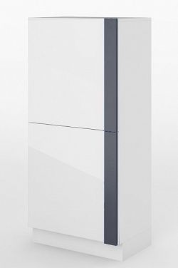 Skříňka v bílém lesku typ 06 KN346
