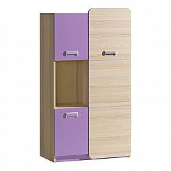 Skříňka v jednoduchém moderním provedení fialová EGO L5