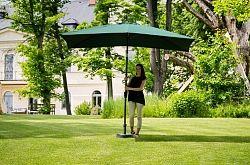 Slunečník hliníkový obdélníkový zelený 3x2 m