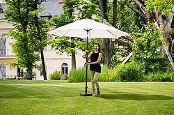 Slunečník hliníkový zahradní béžový 300 cm