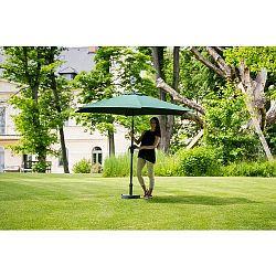 Slunečník hliníkový zahradní zelený 270 cm