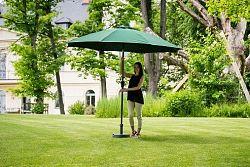 Slunečník hliníkový zahradní zelený 300 cm