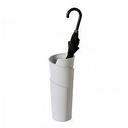 Stojan na deštníky / váza keramická Swing, 50 cm, bílá
