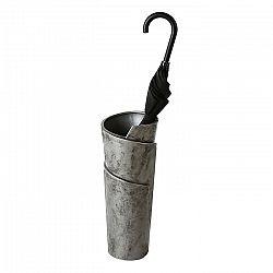 Stojan na deštníky / váza keramická Swing, 50 cm, stříbrná