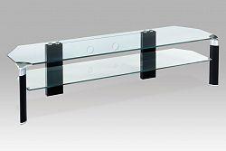 TV stolek černé nohy / čiré sklo ATV-019 BK