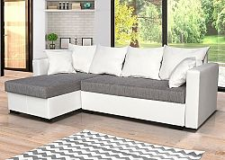 Univerzální sedací souprava v kombinaci bílé a šedé barvy s bílými polštáři F1281