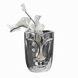 Váza hliníková Face, 23 cm