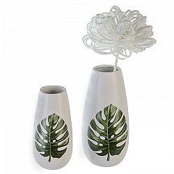 Váza keramická Big Leaf, 18 cm