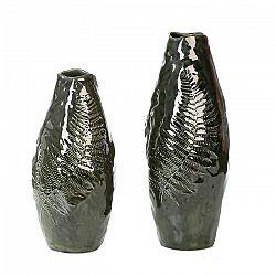 Váza keramická Kapradina, 37 cm