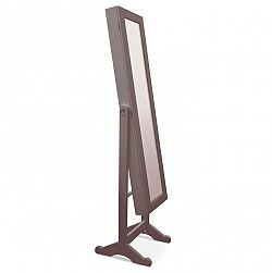 Velké praktické zrcadlo 2 v 1 tmavohnědé barvy TK222