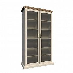 Vitrína s prosklenými dveřmi nordická bílá borovice ROYAL WS
