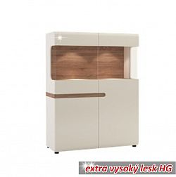 Vitrínav luxusní bílé barvě ve vysokém lesku TK026 TYP 33