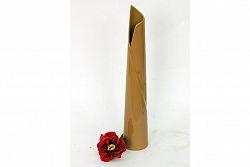 Vysoká keramická váza 40 cm v oranžové barvě HL711719