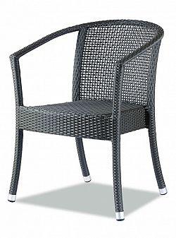 Zahradní designová židle C88314 hnědá