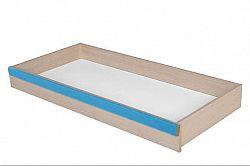 Zásuvka k posteli CAPS SZUF dub světlý belluno/modrá lišta