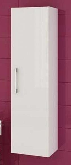 Závěsná koupelnová skříňka se zásuvkami v bílém lesku F1250