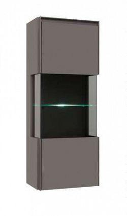 Závěsná vitrína FINI SFW1W/12/5 šedý volfram s LED osvětlením