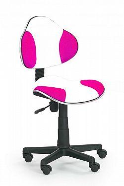 Židle dětská bílo-růžová F177
