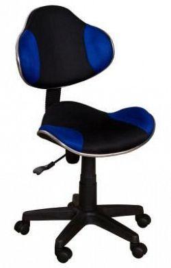 Židle dětská černomodrá F257