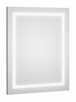 Zrcadlo s LED osvětlením s hnědým proužkem F1273