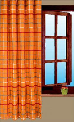 Forbyt, Hotový závěs, Kostka, oranžová, 160 cm