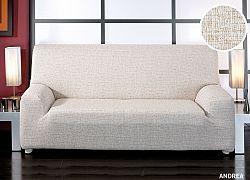 Forbyt, Potah elastický na sedací soupravu, Andrea, béžová křeslo - š. 60 - 110 cm