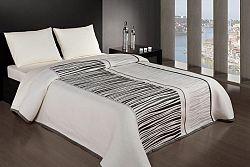 Forbyt  Přehoz na postel, Africa, černobílá 140 x 220 cm