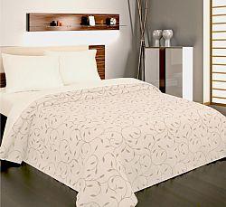 Forbyt, Přehoz na postel, Indiana šedobéžová 240 x 260 cm