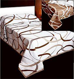 Forbyt  Přehoz na postel, May, béžový, hnědobéžová 140 x 220 cm