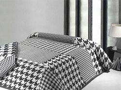 Forbyt, Přehoz na postel, Mix, černobílý 240 x 260 cm