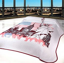 Forbyt, Přehoz na postel, New York, bordový 240 x 260 cm