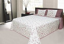 Forbyt, Přehoz na postel, Orleans, světle bordová 240 x 260 cm