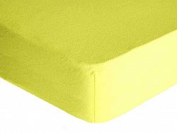 Forbyt, Prostěradlo, Froté Premium, světle žluté 70 x 140 cm