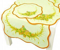 Forbyt, Ubrus Velikonoční, Krokus, oranžový 50 x 100 cm