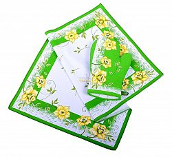 Forbyt, Utěrka nebo chňapka bavlněná, Narciz, zelený  chňapka