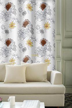 Forbyt, Závěs dekorační, OXY Gardenie 150 cm, oranžovožlutá