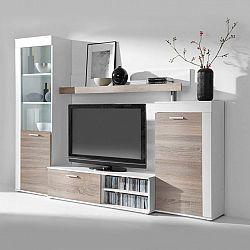 Obývací stěna DECOR bílá/dub