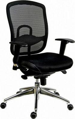 Antares Kancelářská židle Oklahoma šedá síť/šedá látka