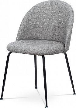 Autronic Jídelní židle - stříbrná látka CT-017 SIL2