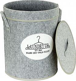 Autronic Koš na prádlo z plsti s víkem KD4415