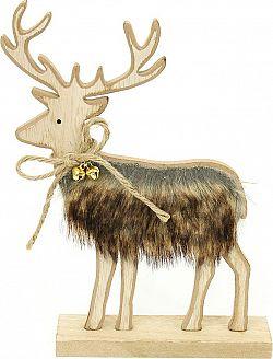 Autronic Sob, vánoční dekorace s plyšem KLA469
