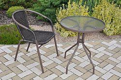Axin Trading Zahradní set 1+1 kov + umělý ratan
