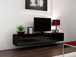 Cama Televizní stolek VIGO 180 - černá