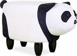 Casarredo Čalouněný taburet PANDA PAULINKA černá/bílá