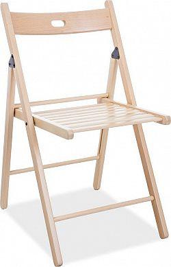 Casarredo Dřevěná skládací židle SMART II natural