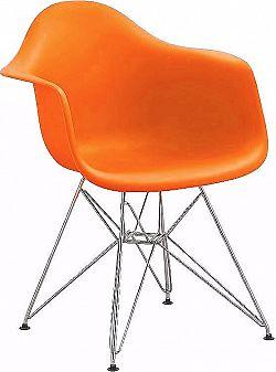 Casarredo Jídelní židle - křeslo REGIA oranžová