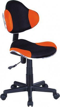 Casarredo Kancelářská židle Q-G2 černá/oranžová