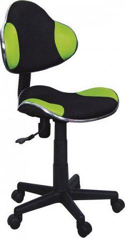 Casarredo Kancelářská židle Q-G2 černá/zelená